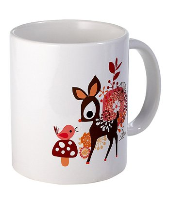 Deer and Bird Mug
