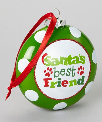 'Santa's Best Friend' Flat Ornament