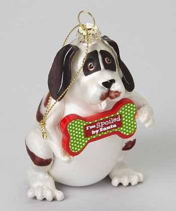 'I'm Spoiled by Santa' Dog Ornament