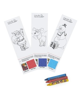 Holiday Color-Me Bookmark Set