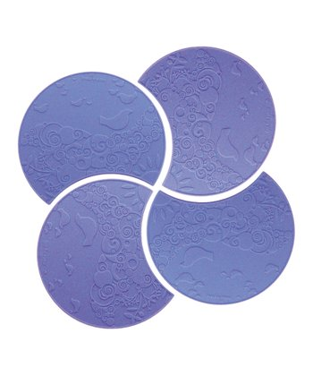 Lavender Swirl Coasters - Set of Four