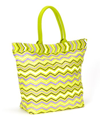 Green & Yellow Waves Tote