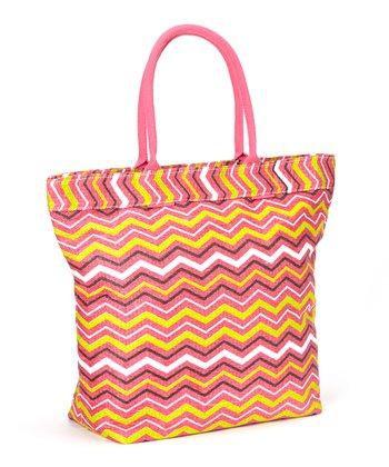 Pink & Orange Waves Tote