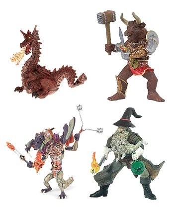 Sorcerer, Minotaur & Dragon Set