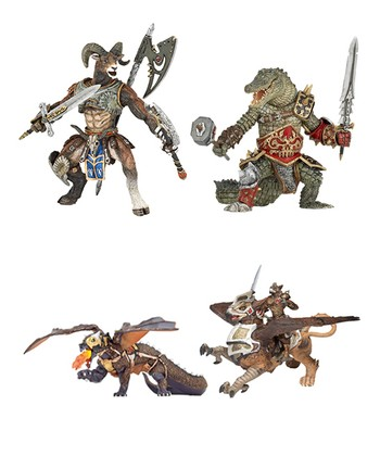 Ram Man, Bird Man, Crocodile, & Dragon of Darkness Set