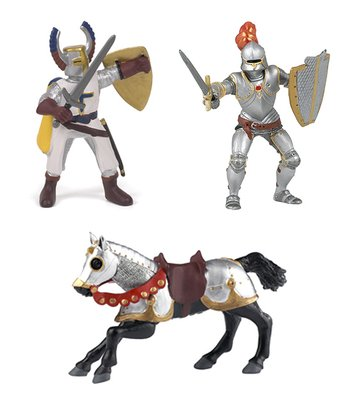 Armored Knight, Horse & Crusader Set