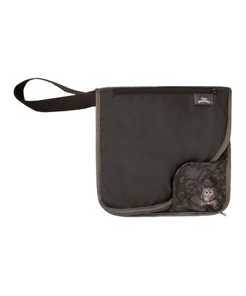 Gray Messenger Diaper Bag