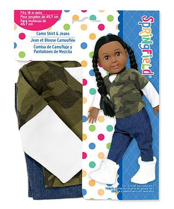 Camo Layered Doll Outfit