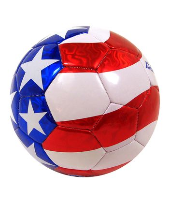 Red & Blue Patriotic Soccer Ball