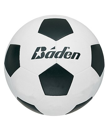 Black & White Rubber Soccer Ball