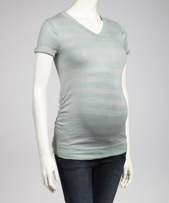 Mint & Jade Maternity V-Neck Top - Women