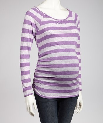 Lilac Ruched Maternity Top - Women