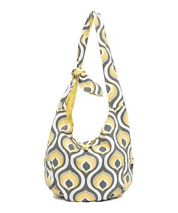 Yellow Peacock Reversible Crossbody Bag