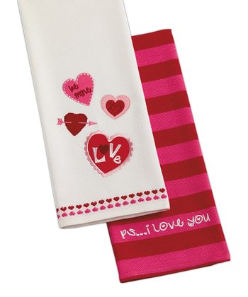 'PS I Love You' Dish Towel Set
