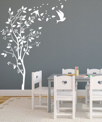 White Windy Spring Wall Decal Set