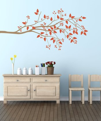 Orange Special Simplicity Branch Wall Decal Set