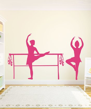 Dark Pink Bella Ballerina Wall Decal
