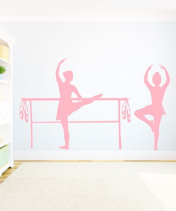 Light Pink Bella Ballerina Wall Decal