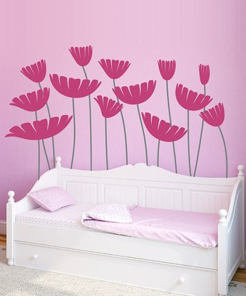 Pink Honey, I Supersized the Flowers Wall Decal Set