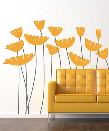 Yellow Honey, I Supersized the Flowers Wall Decal Set