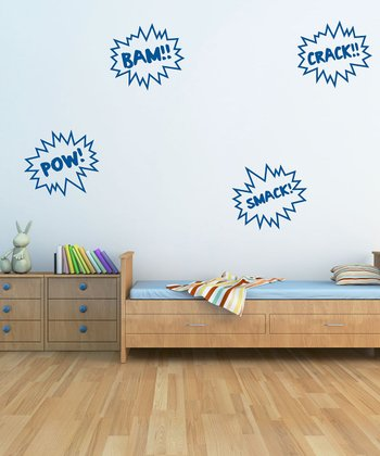 Blue Cartoon Noises Wall Decal Set
