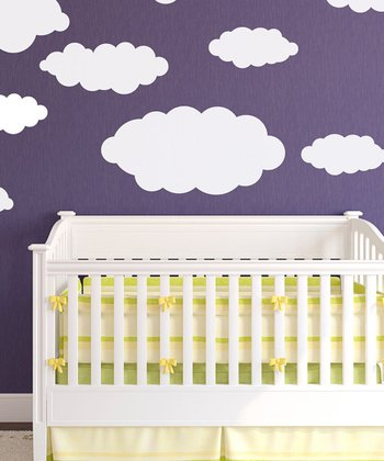 Happy Little Clouds Wall Decal Set