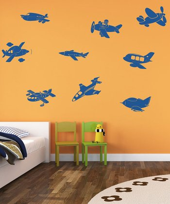 Fly Away Airplanes Wall Decal Set