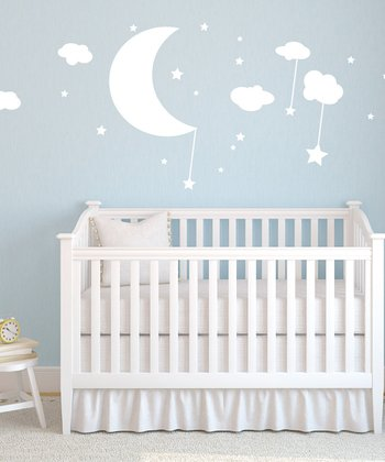 Moon, Clouds & Stars Wall Decal Set
