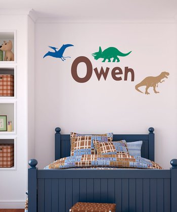 Dinosaur Land Personalized Wall Decal Set