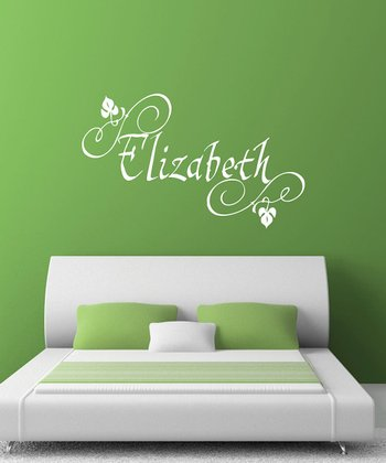 White Elizabethan Personalized Wall Decal Set