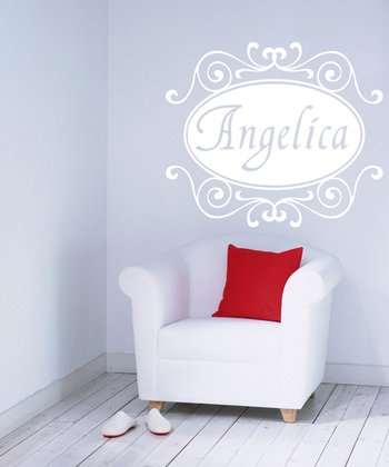 White Florence Personalized Wall Decal Set