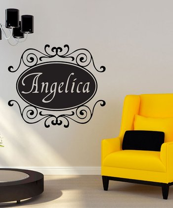 Black Florence Personalized Wall Decal Set