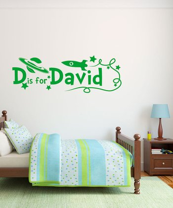 Green Rockets Personalized Wall Decal Set