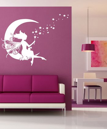 White Moon Fairy Wall Decal Set