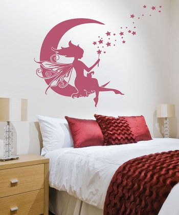 Lipstick Moon Fairy Wall Decal Set