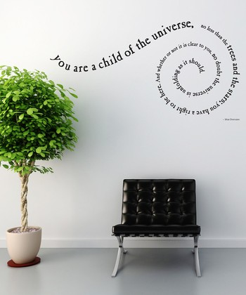 'Child of the Universe' Spiral Quote Wall Decal Set