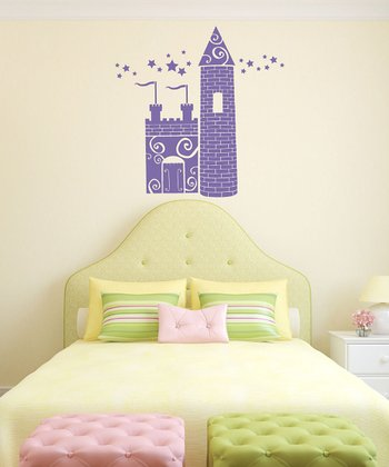 Lavender Princess Castle Wall Decal Set