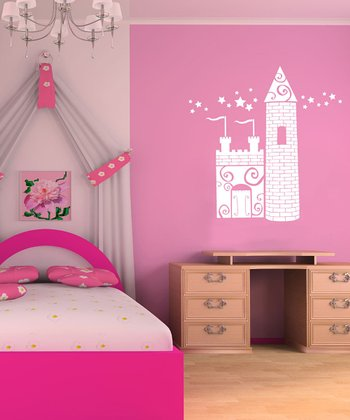 White Princess Castle Wall Decal Set