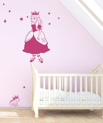 Pink Princess & Frog Wall Decal Set