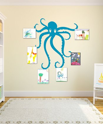 Teal Octopus Wall Decal Set