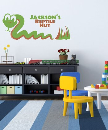 Slithering Snake Personalized Wall Decal Set