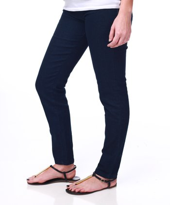 Navy Blue Basic Maternity Skinny Jeans - Women