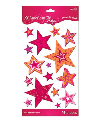 Stars Sturdy Sticker Pack - Set of Three