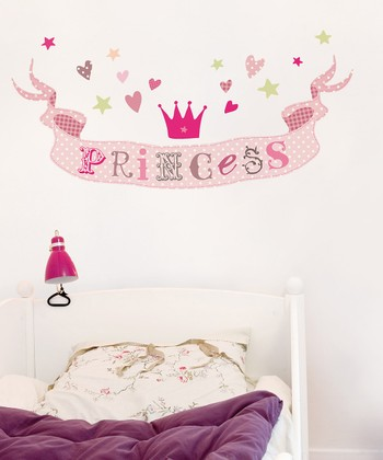 'Princess' Words Wall Decal Set