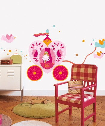 Princess Carriage Wall Decal Set