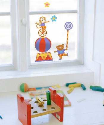 Circus Window Cling Set