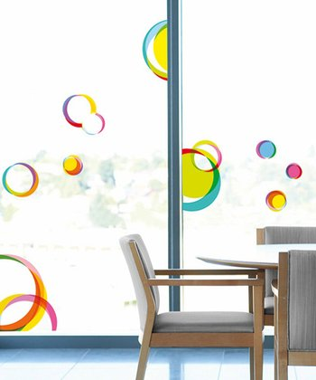 Circles Window Cling Set