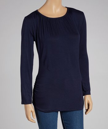 Navy Nursing Long-Sleeve Top - Women