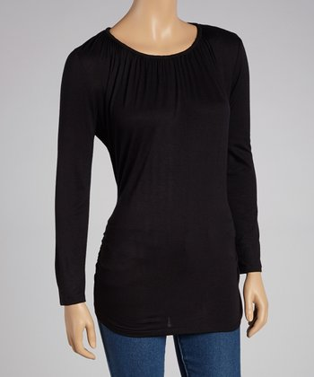 Black Nursing Long-Sleeve Top - Women