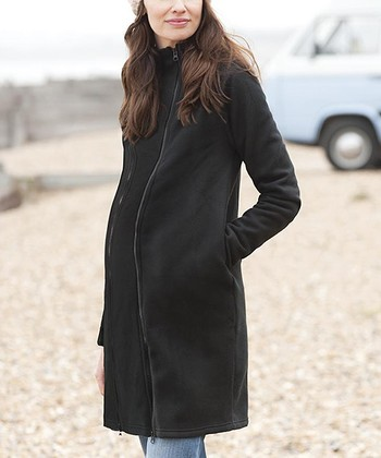 Black Fleece Maternity Jacket